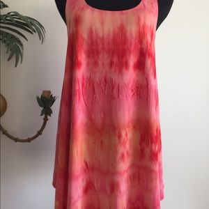 New direction dress orange/red pull over  Sz large